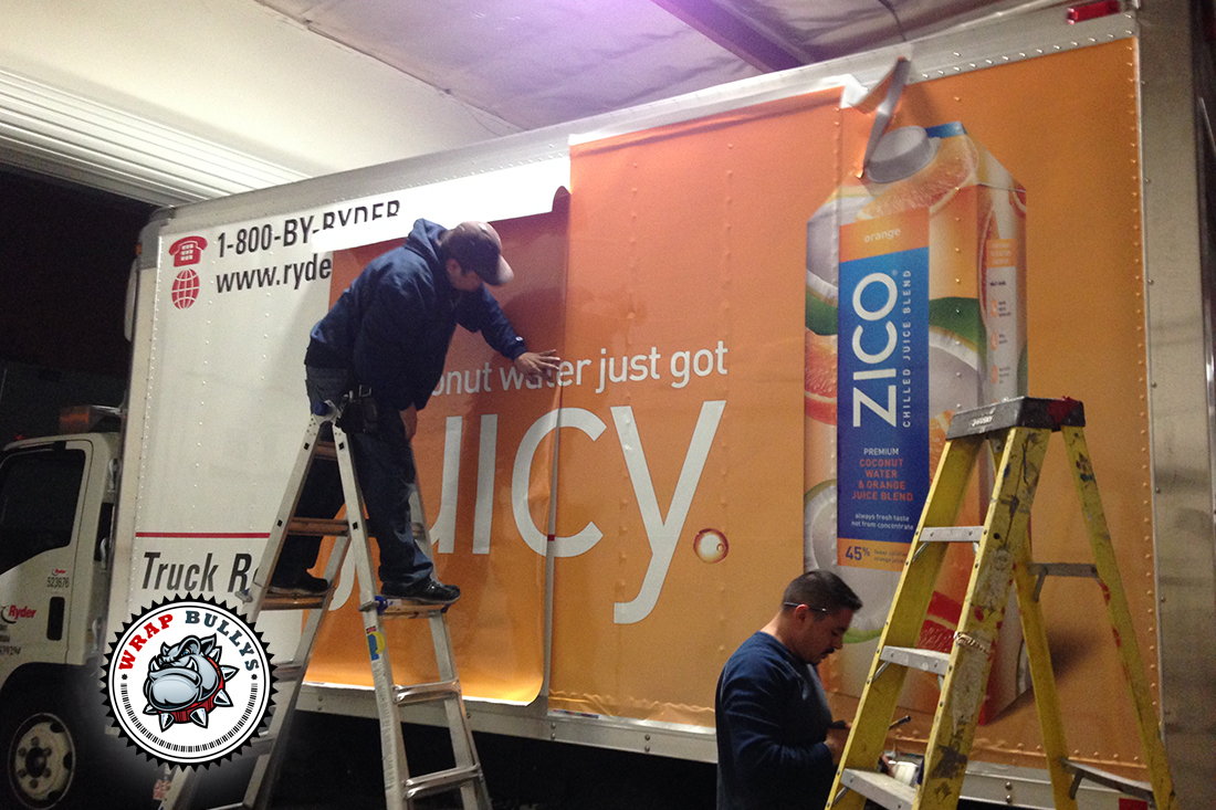 Zico Advertising Fleet Box Truck Wrap Wrap Bullys Los