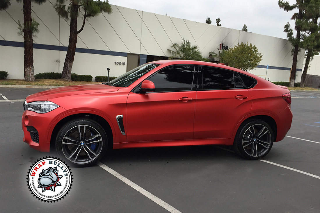 Bmw X6 M Wrapped In Satin Red Wrap Bullys