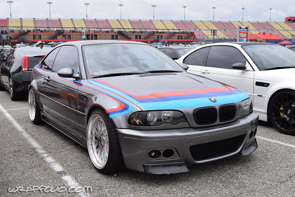 E46 M3 M Stripes Wrapfolio