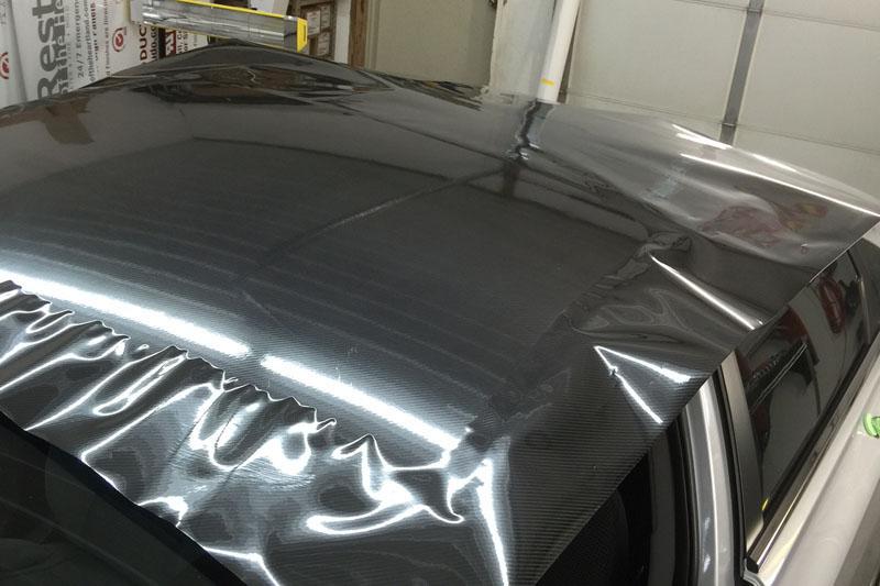 Nissan Sentra 4d Carbon Roof Wrap Wrapfolio