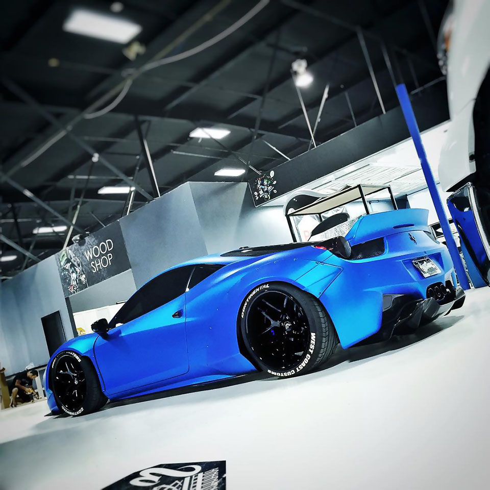 justin biebers frozen blue chrome ferrari 458 wrapfolio