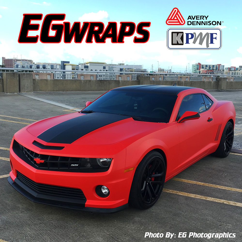 Matte Red Camaro Wrap Wrapfolio