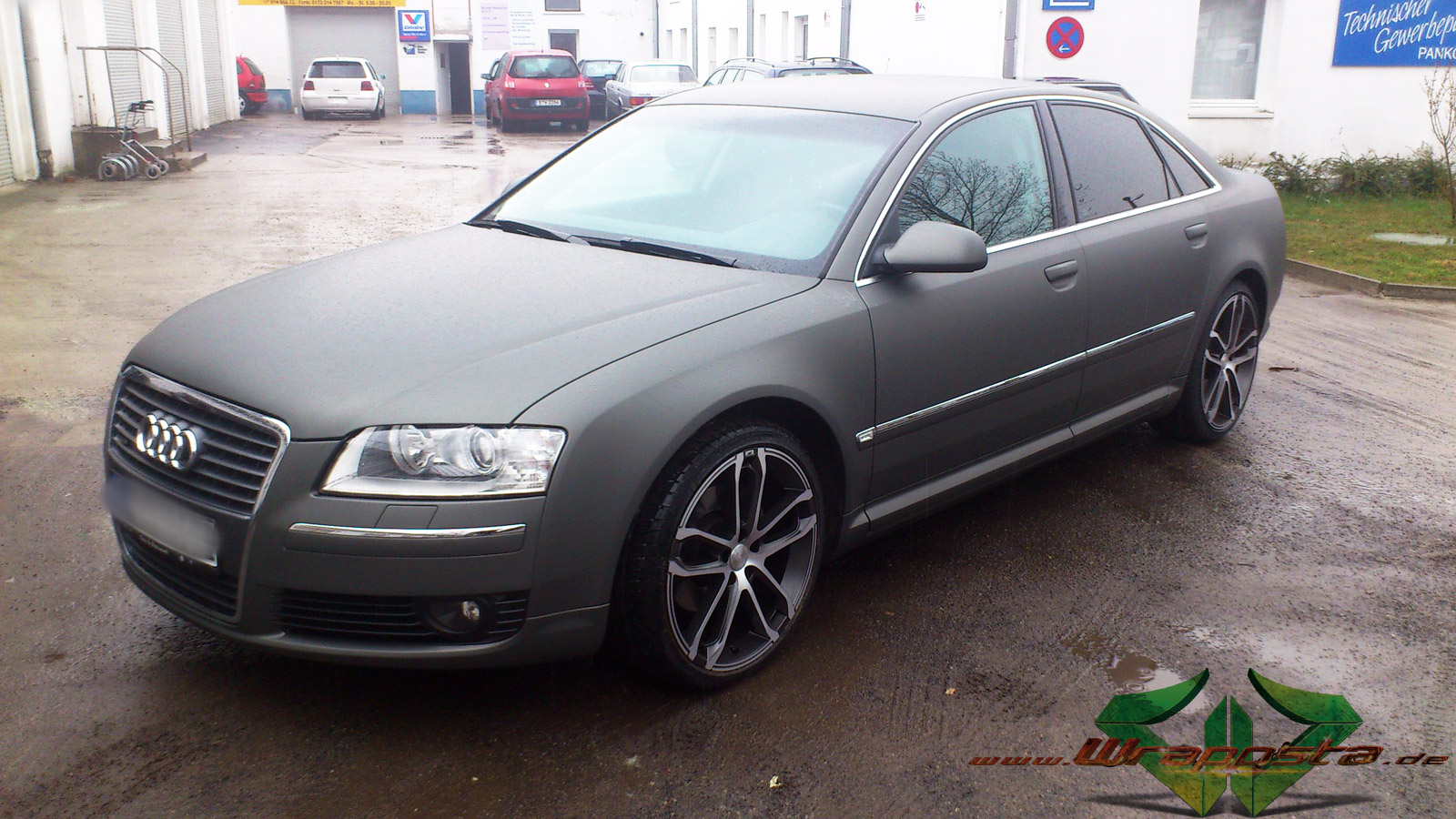 Autolack Anthrazit Metallic Matt Audi A8 - Ultra Matt Anthrazit Metallic - Wrappsta Berlin
