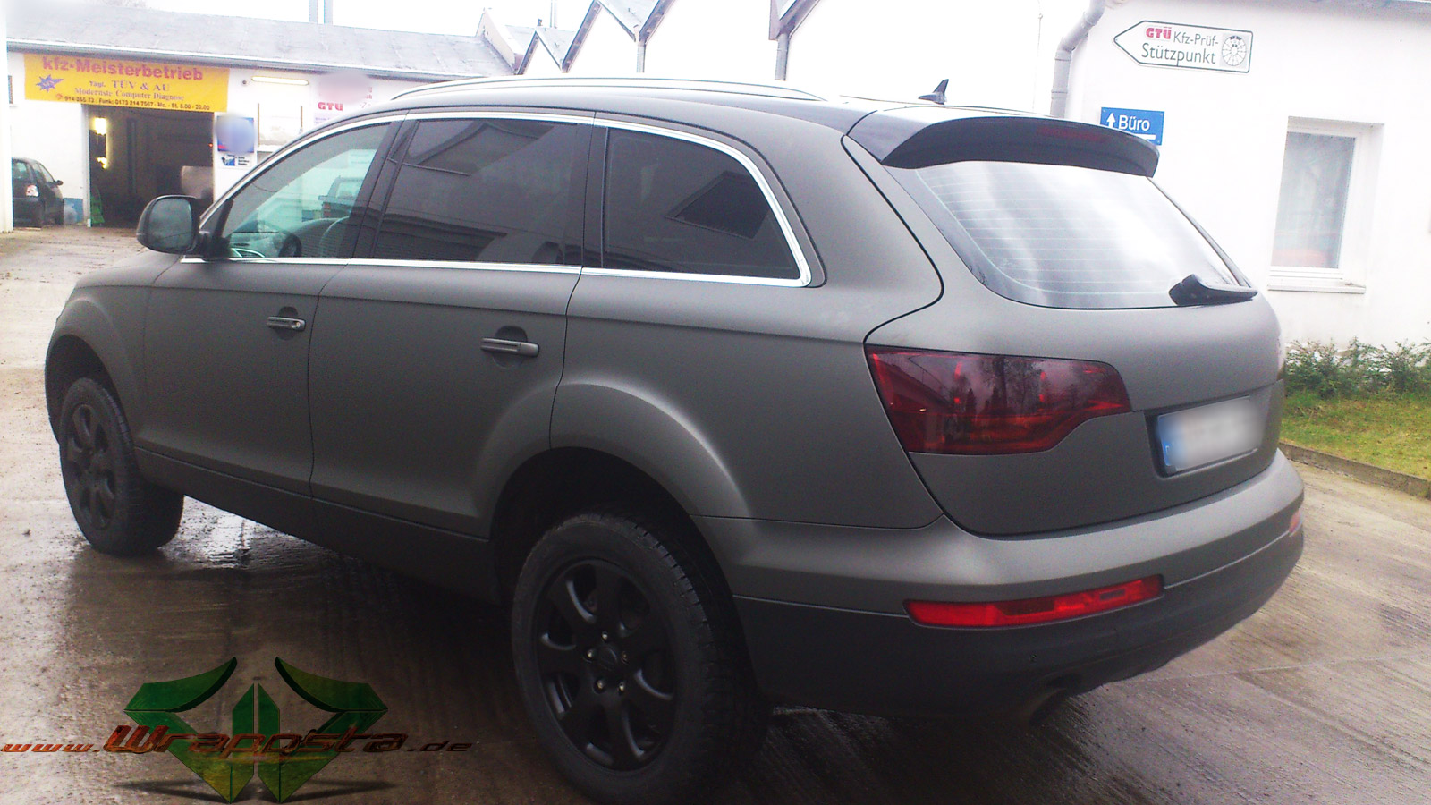 Autolack Anthrazit Metallic Matt Audi Q7 - Ultra Matt Anthrazit Metallic & Glanz Schwarz