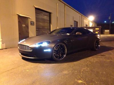 Aston Martin DB9 Matte Black Wrap - Vivid Wraps