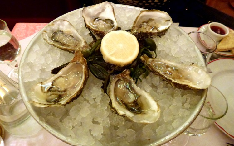 Oysters at Brasserie Zedel