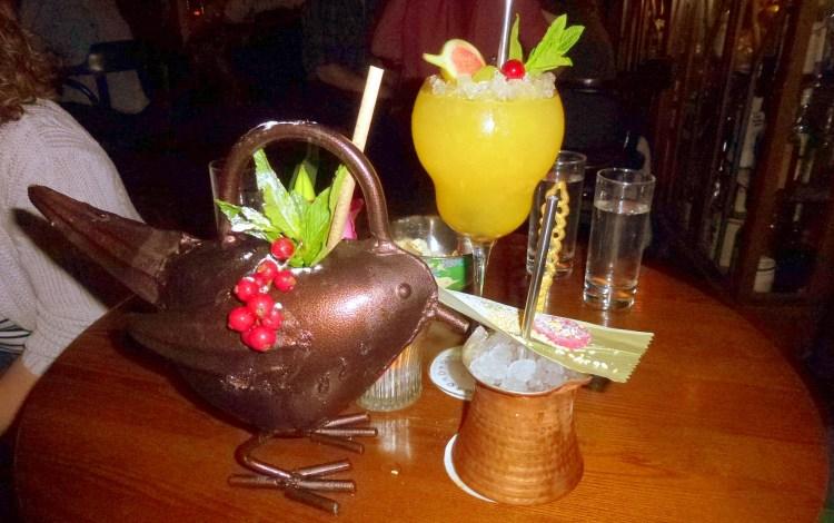 Jungle Bird, Rose Hip Julab at bar nightjar cocktail