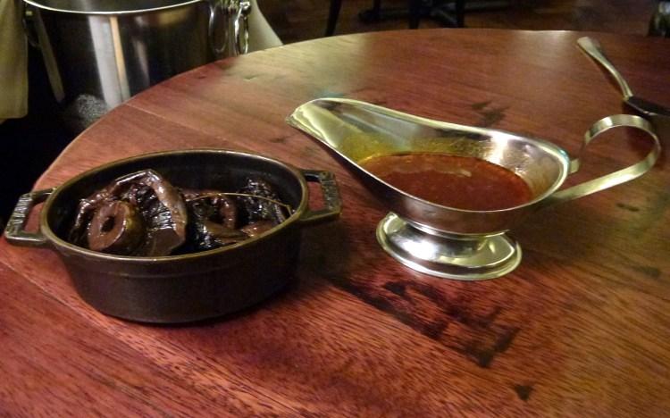 Roast field mushrooms and bone marrow gravy at Hawksmoor air street