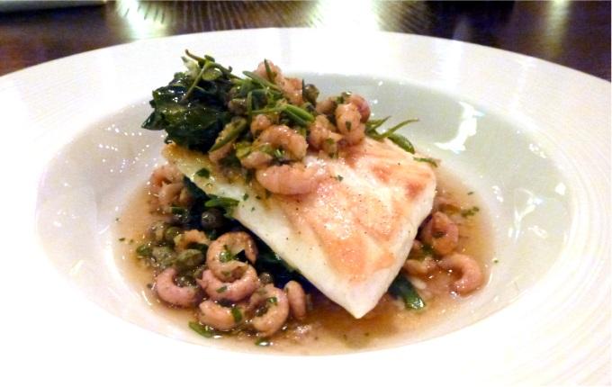 Cod in cider, shrimps at dinner by heston blumenthal