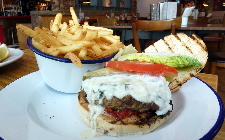 Gergious Kyriakos burger - lamb, haloumi Maggies