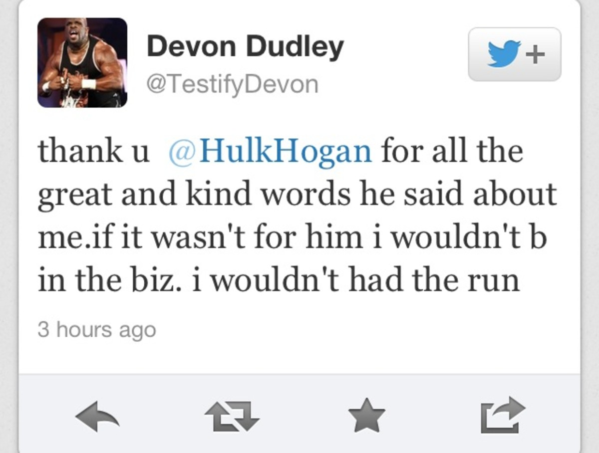 Hulk Hogan Twitter Devon Responds To Hulk Hogan Tweet Bully Ray Comments On Losing
