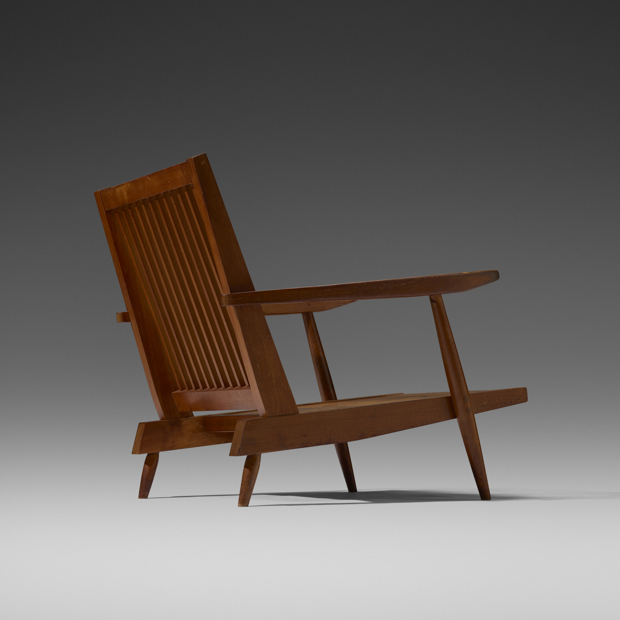 Cushion Chair 238 George Nakashima Cushion Chairs With Arms Pair Important