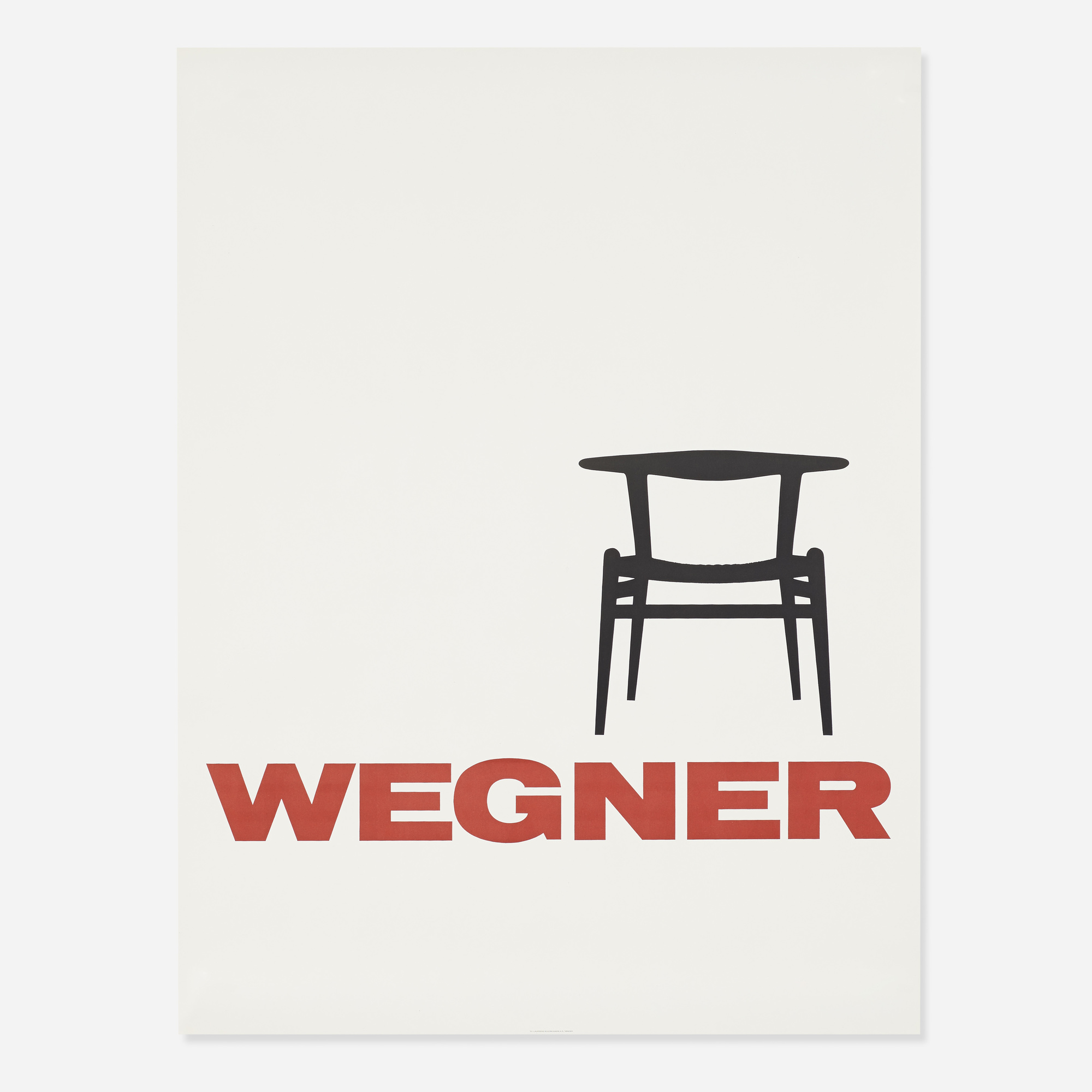 Vitra Chair Poster 368 Hans J Wegner Poster Scandinavian Design 8 May