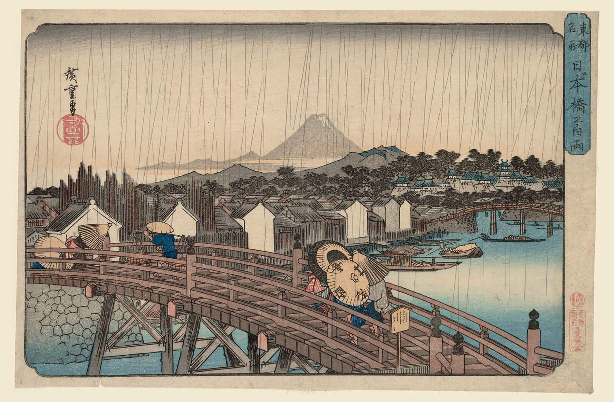 Frank Lloyd Wright Prints Framed Wright Curates First Hiroshige Exhibition In Us Frank