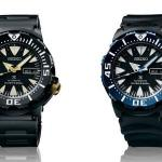 "Baselworld 2014: Seiko Prospex ""Monster"" Watches in Black PVD, SRP581 and SRP583"