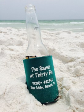 sands coozie in sand