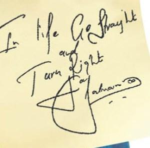 Salman Khan's handwriting