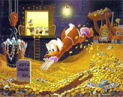 Do you know an Uncle Scrooge who hates spending? See how he writes
