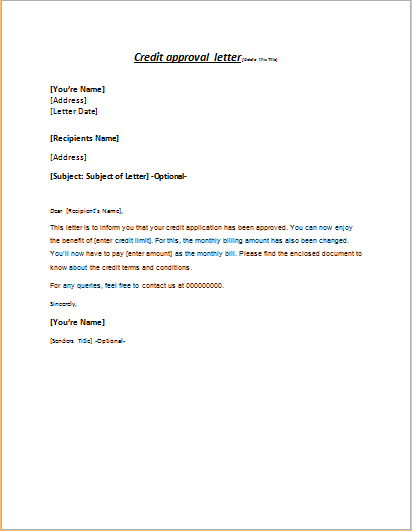 Sample Confirmation Of Payment Planterms Letter Credit Approval Letter To Client Writeletter2