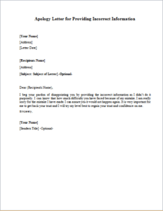 Business Letter Of Apology Gallery Letter Examples Ideas