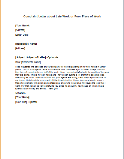 Complaint Letter Example Sample Template Writing Tips Sample Complaint Letter To Employer Unfair Treatment