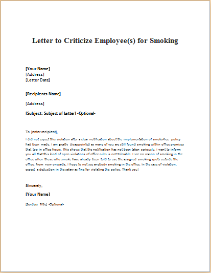 Ielts Complaint Letter Model Letter Announcing Bad News To Employees Writeletter2