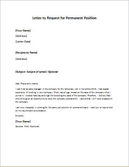 Personal Job Reference Request Letter Letters Of Recommendation How To  Write A Letter For Permanent Employment