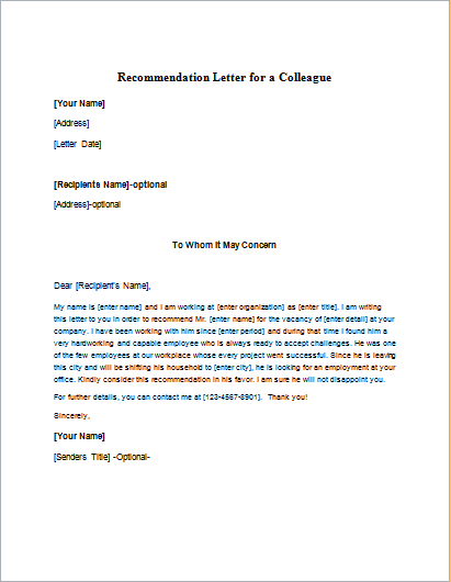 Recommendation Letter Free Sample Letters Personal Reference Letter For A Friend Writeletter2