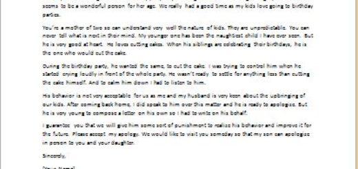 Apology Letter for Child Misbehavior writeletter2