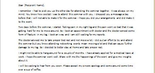 Invitation Letter To Attend A Seminar Invitation Letters