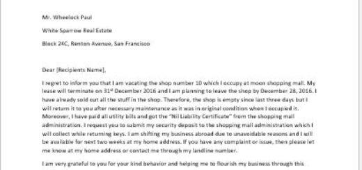 Rental Contract Termination Letter on Tenant\u0027s Behalf writeletter2 - termination letter 2