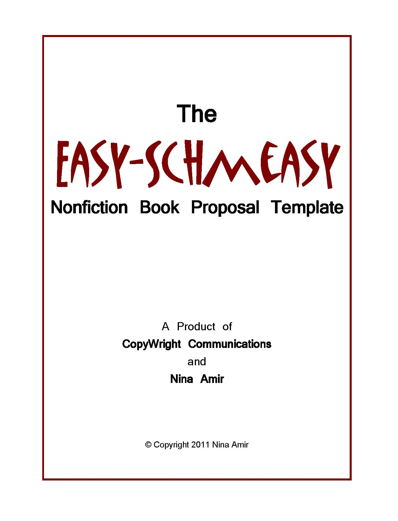 How To Write A Nonfiction Proposal