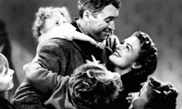 I'm watching It's a Wonderful Life with my son…