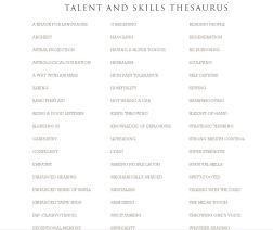 talents-and-skills-thesaurus