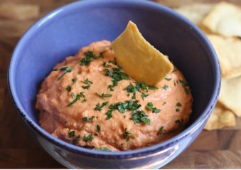 homemade roasted red pepper hummus recipe   writes4food.com