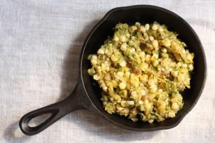 recipe for corn and zucchini saute | writes4food.com
