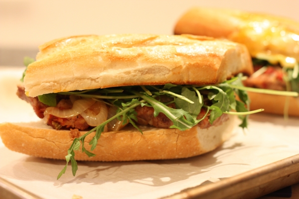 crazy-good meatloaf sandwiches with arugula recipe | writes4food.com