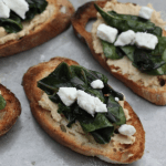 crostini with chard and hummus #writes4food