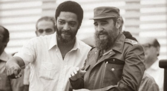 Maurice Bishop with Fidel Castro, 26 July, 1983