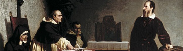 A detail from Cristiano Banti's Galileo Before the Inquisition (1857).