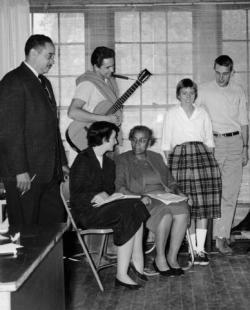 Clark, Thurgood Marshall, and others at the Highlander Folk School.
