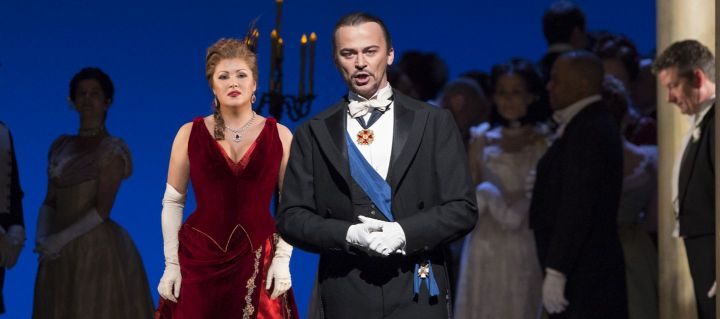 Soprano Anna Netrebko reprises one of her most acclaimed roles as Tatiana, the naïve heroine of Tchaikovsky's opera, which the composer adapted from Pushkin's classic verse novel. Peter Mattei stars opposite her as the self-confident title character, Eugene Onegin, who rejects Tatiana's love until it's too late.