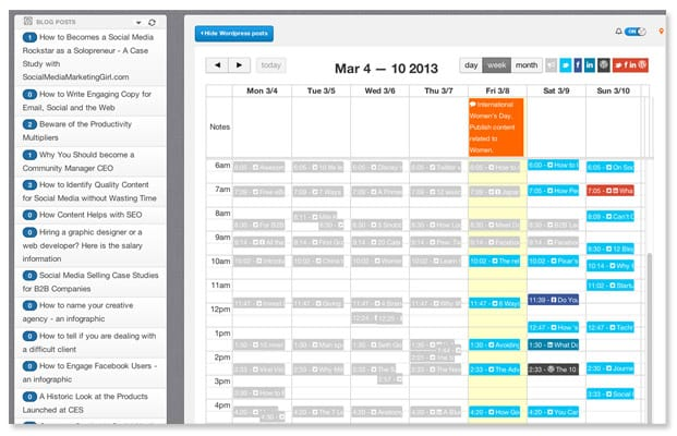 2015 social media calendar template
