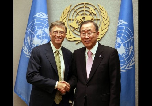 Bill Gates Ban Ki-moon