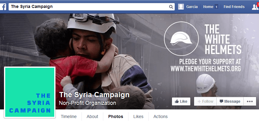 The Syria Campaign Facebook PURPOSE Screenshot