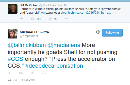 Bill McKibben Tweet CCS Shell 2