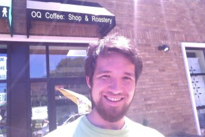 Nelson outside of OQ Coffee