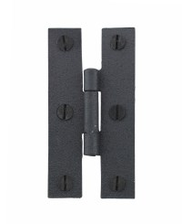 Wrought Iron H Cabinet Hinge Flush Mount 3 inch Set of 24