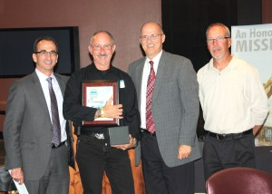 L to R: James Taylor, URS GMOS president; Thom Ardamica: Dave Olson, WRPS president and project manager; and Rob Gregory, WRPS Tank Farm Projects manager.