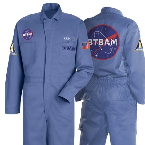 With the official BTBAM flight suit and The Parallax II: Future Sequence, you are cleared to blast off into space.
